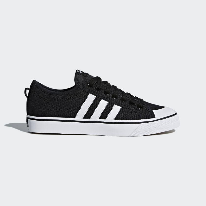 Nizza Shoes | Black shoes, Sneakers, Black adidas