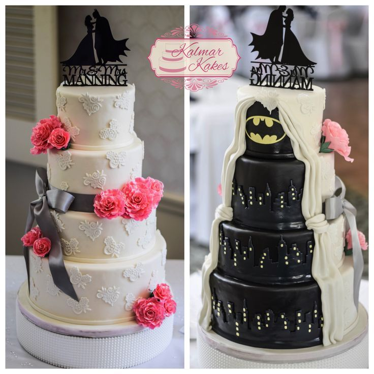 Surprise Batman Wedding Cake For The Groom Weddingcake Cakes