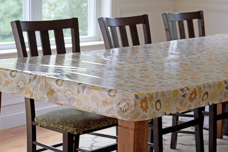 Oilcloth Tablecloth, Laminated Cotton Tablecloth, Fitted Tailored Tablecloth,  Custom RECTANGULAR Or SQUARE 56