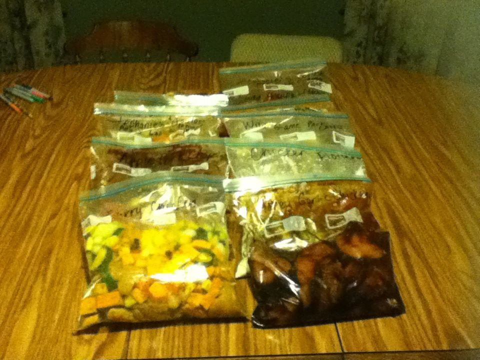 12 meals ready to go!  So proud of myself