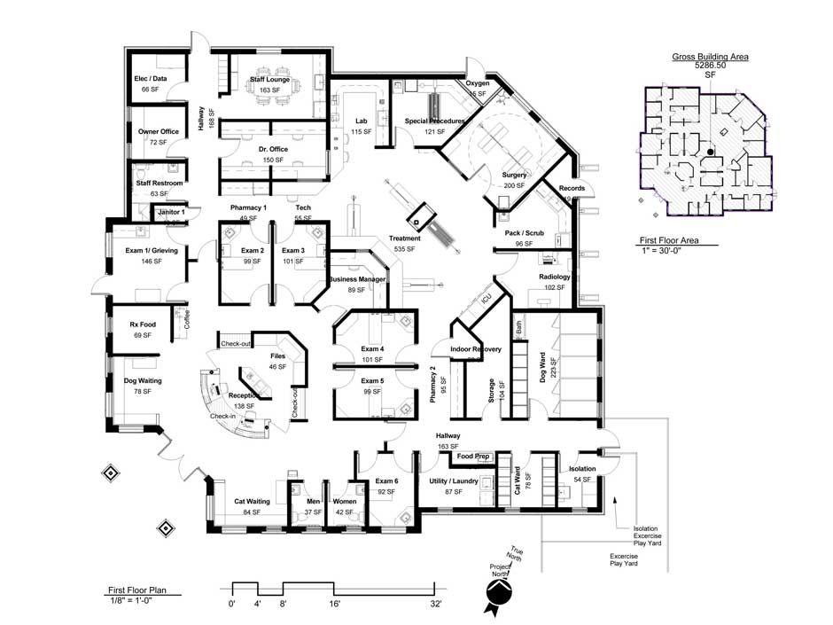 Building A Vet Practice - Floorplans