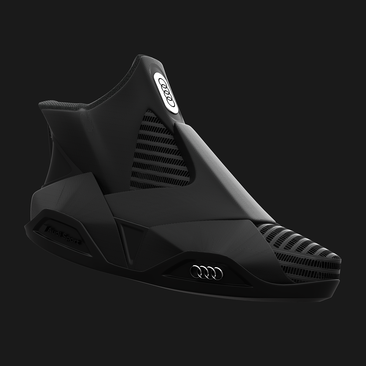 c49cfbc07635 Audi Future Shoes Dark Edition on Behance