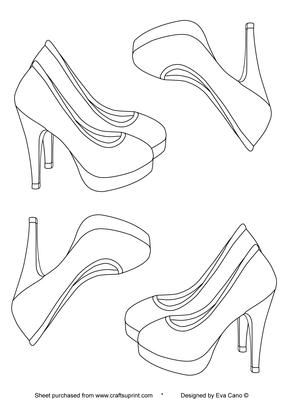 High heels digital stamp digital digi stamps and stenciling for High heel shoe design template