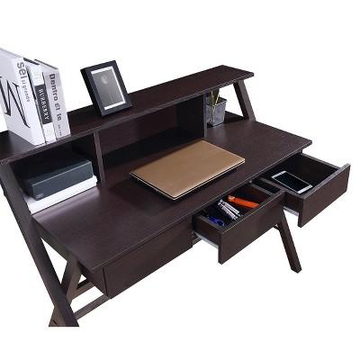 Writing Desk With Storage Wenge Techni Mobili Brown Desk
