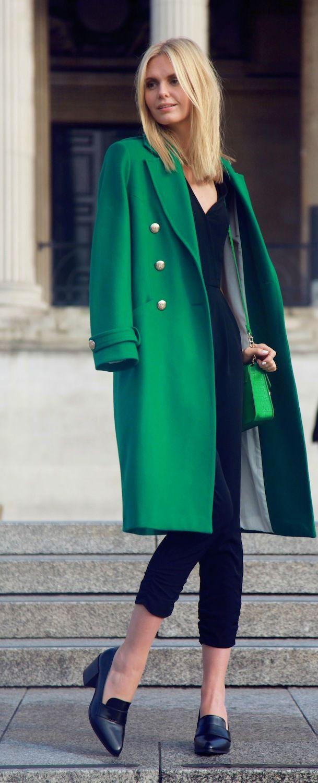Manteau vert fashionista pinterest manteau vert - Vert emeraude avec quelle couleur ...