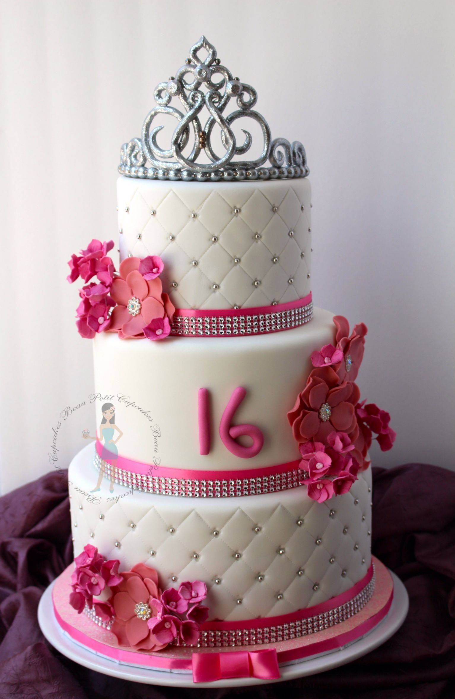 Sweet 16th With Images Sweet 16 Birthday Cake 16th Birthday Cake For Girls Sweet 16 Cakes