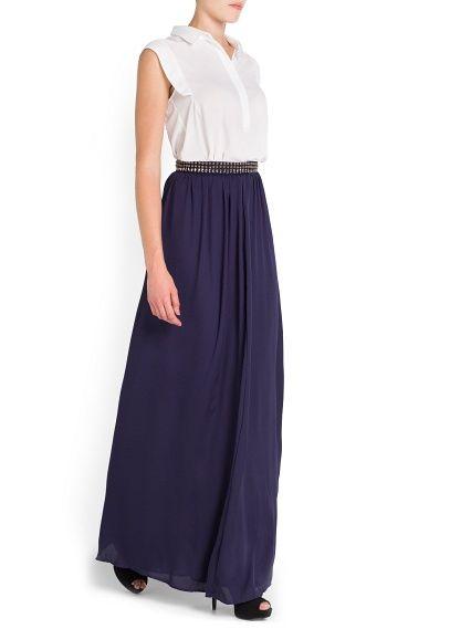c19165e40 Falda larga apliques metálicos - Mujer | Fashion | Faldas largas ...