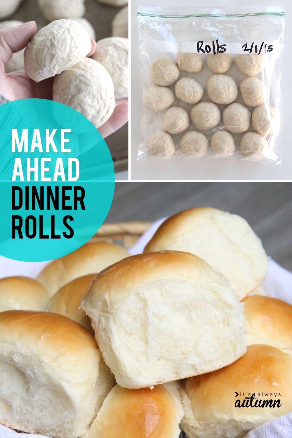 How To Make Rolls In Advance Bake Later Fridge Freezer