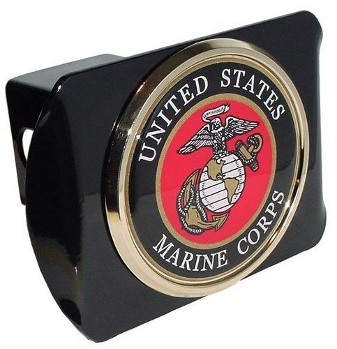 marines seal black hitch cover marines and products