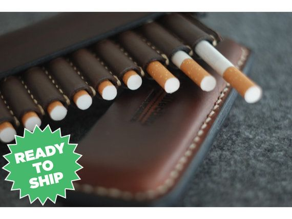 SALE Leather cigarette case Christmas gift от ArtLeatherDesign