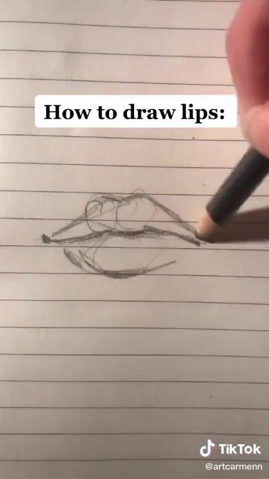 How To Draw Lips Video Drawings Art Drawings Art Drawings Simple
