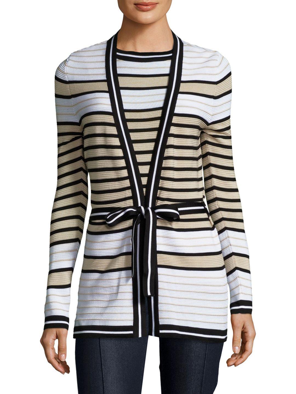 f7a9b3c8ad Carolina Herrera Silk Striped Tie Bow Sweater | Our Styles ...