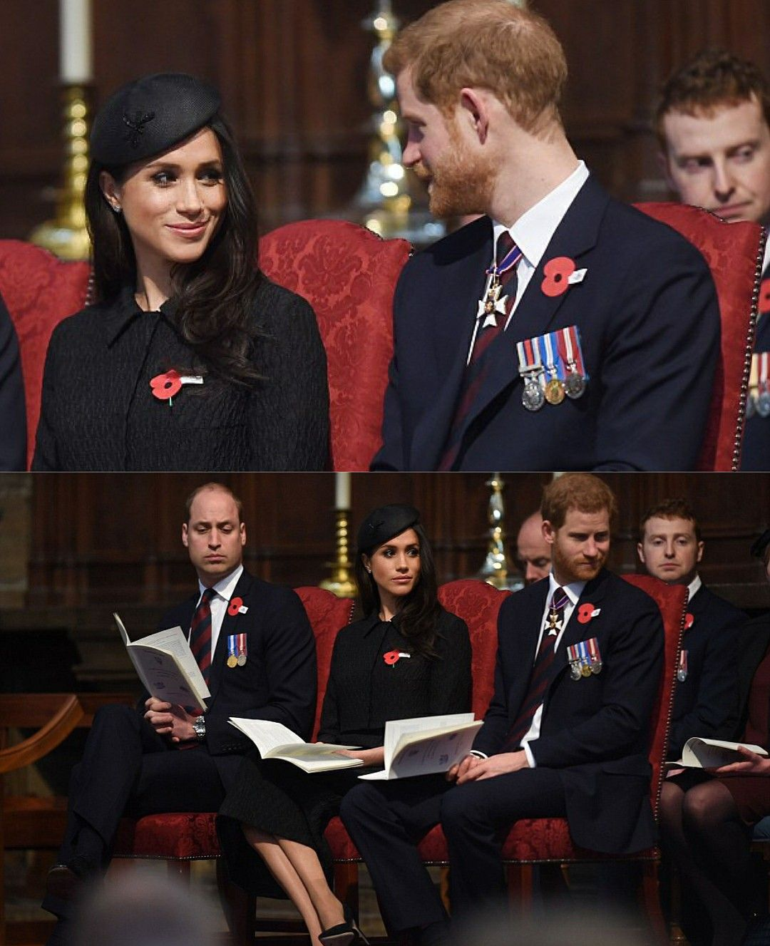Harry And Meghan At Westminster Abbey With William Who