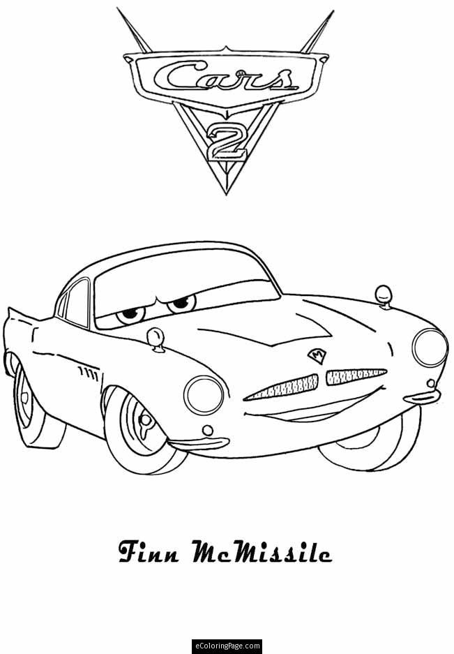 Cars 2 Finn Mcmissile Colouring Sheet Printable Ecoloringpage Com Coloring Pages Printable Coloring Pages Coloring Pages For Kids