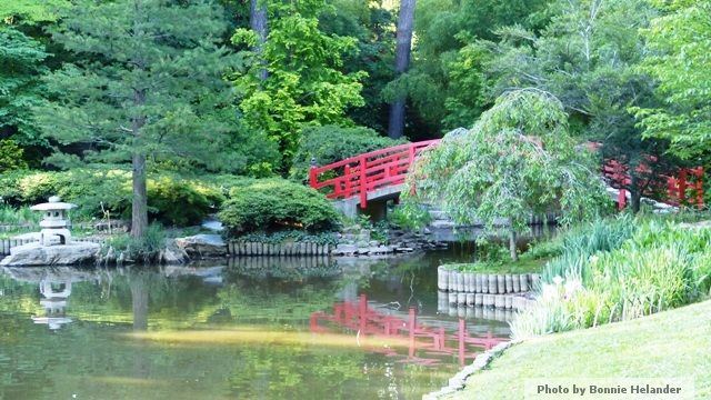 Stunning Red Arched Bridge At Sarah P. Duke Gardens At Duke University   Atlanta  Landscape Architecture   Botanica Atlanta | Landscape Design, Consu2026