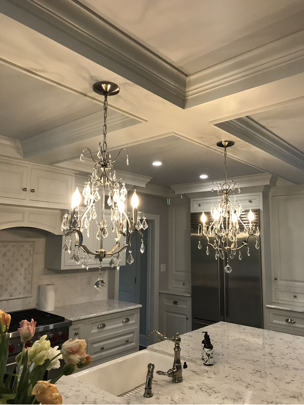 Rosauri Built kitchen renovation , coffered ceiling ...