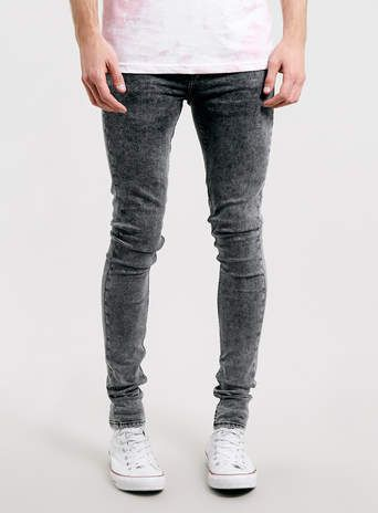 9fd5dacc1cc Black Acid Wash Super Spray On SKINNY jeans