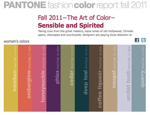 1990s color trends |  2011 fashion trend colors - pantone
