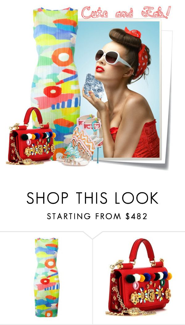 """""""........"""" by elenb ❤ liked on Polyvore featuring Post-It, Retrò, Pleats Please by Issey Miyake, Dolce&Gabbana, Spring, cool and colors"""