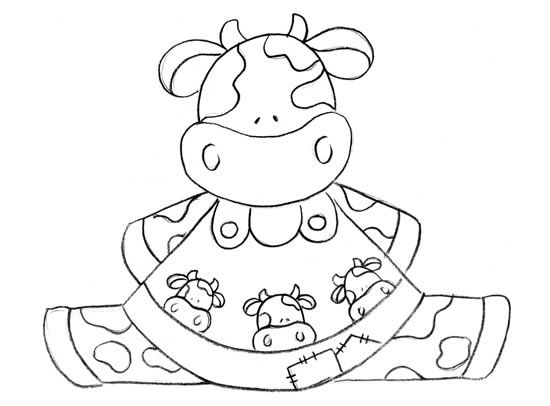 Patchwork Vacas Moldes Imagui Dibujos Pintura En Tela