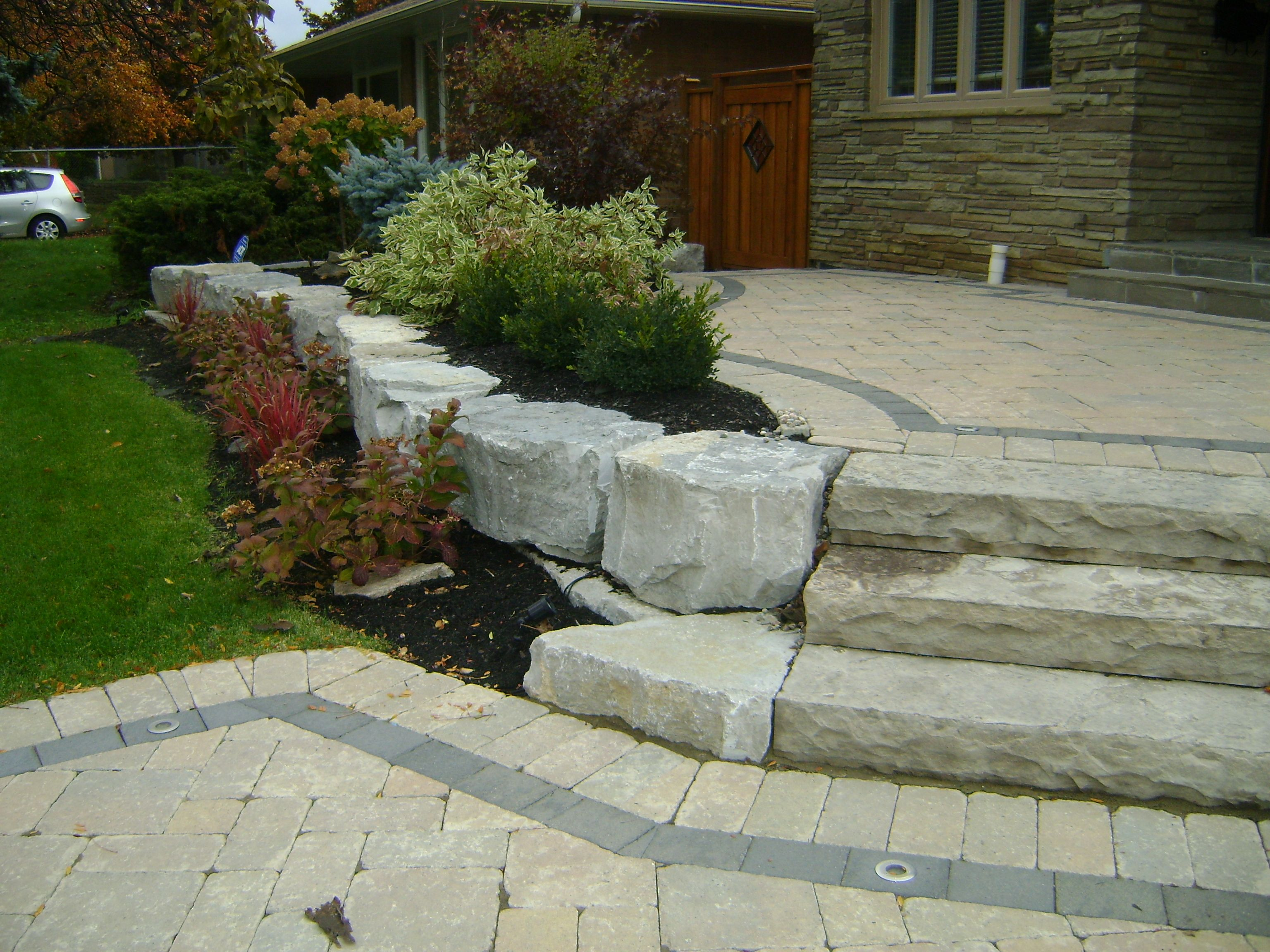 Landscaping With Armour Stone Stone Landscaping Side 400 x 300