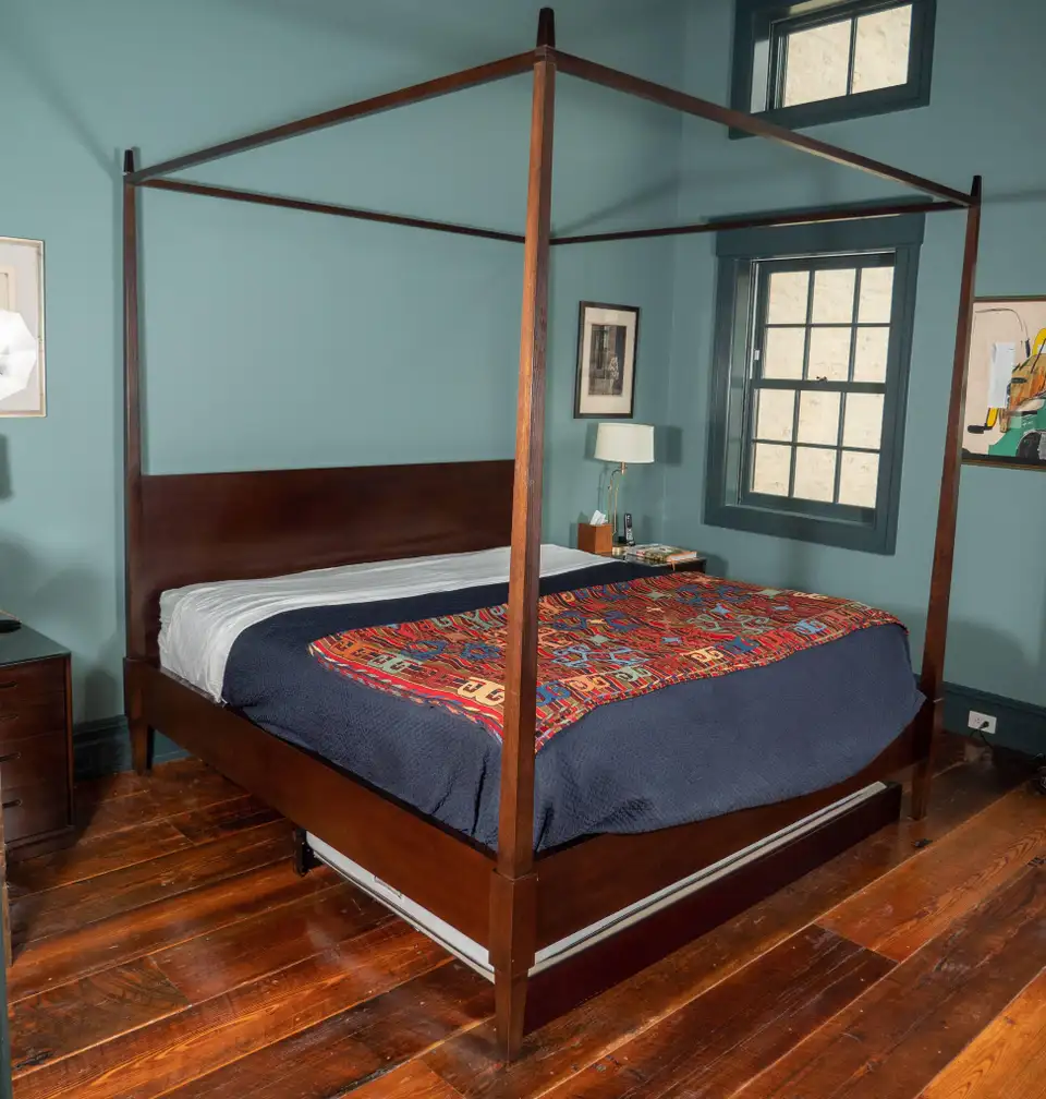 Tapered Wood Four Poster King Size Bed In 2020 King Size Bed