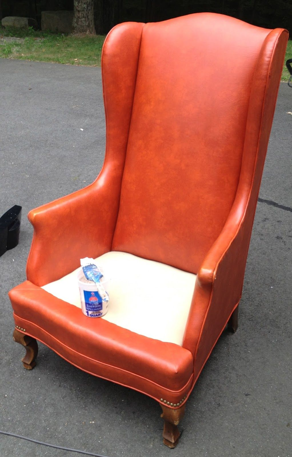 How to Rehab a Leather Chair Chair, Chair upholstery