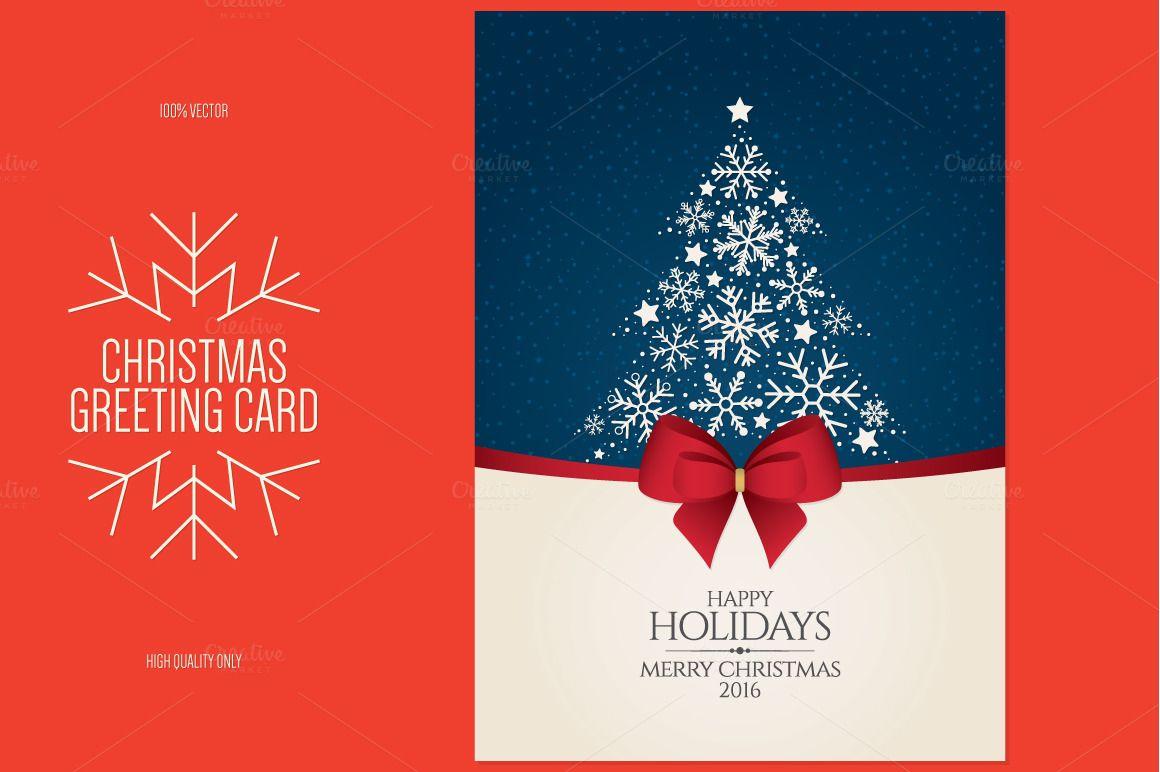 Christmas And New Year Greeting Card Christmas Card Template Photoshop Christmas Card Template Corporate Christmas Cards
