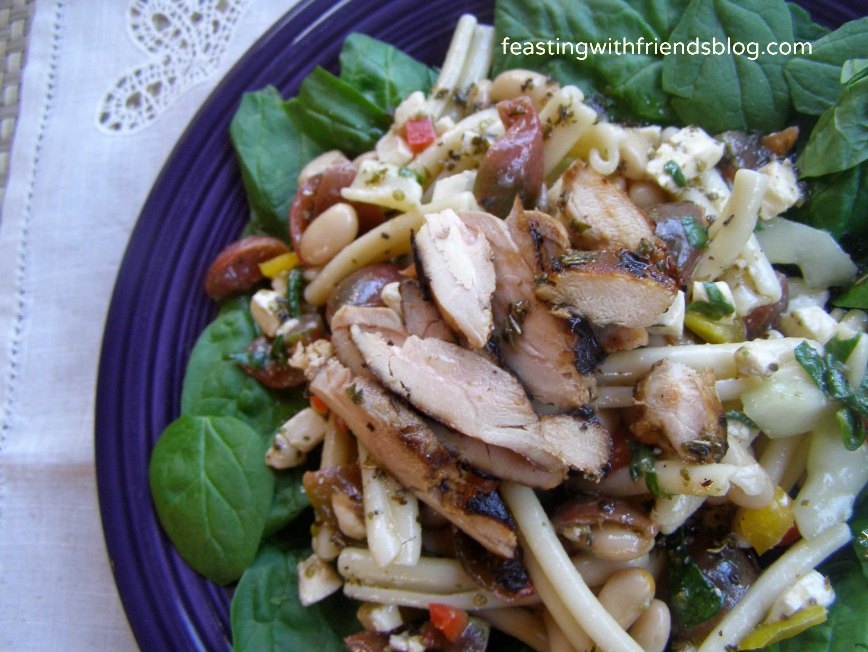 garden pasta salad w/grilled chicken