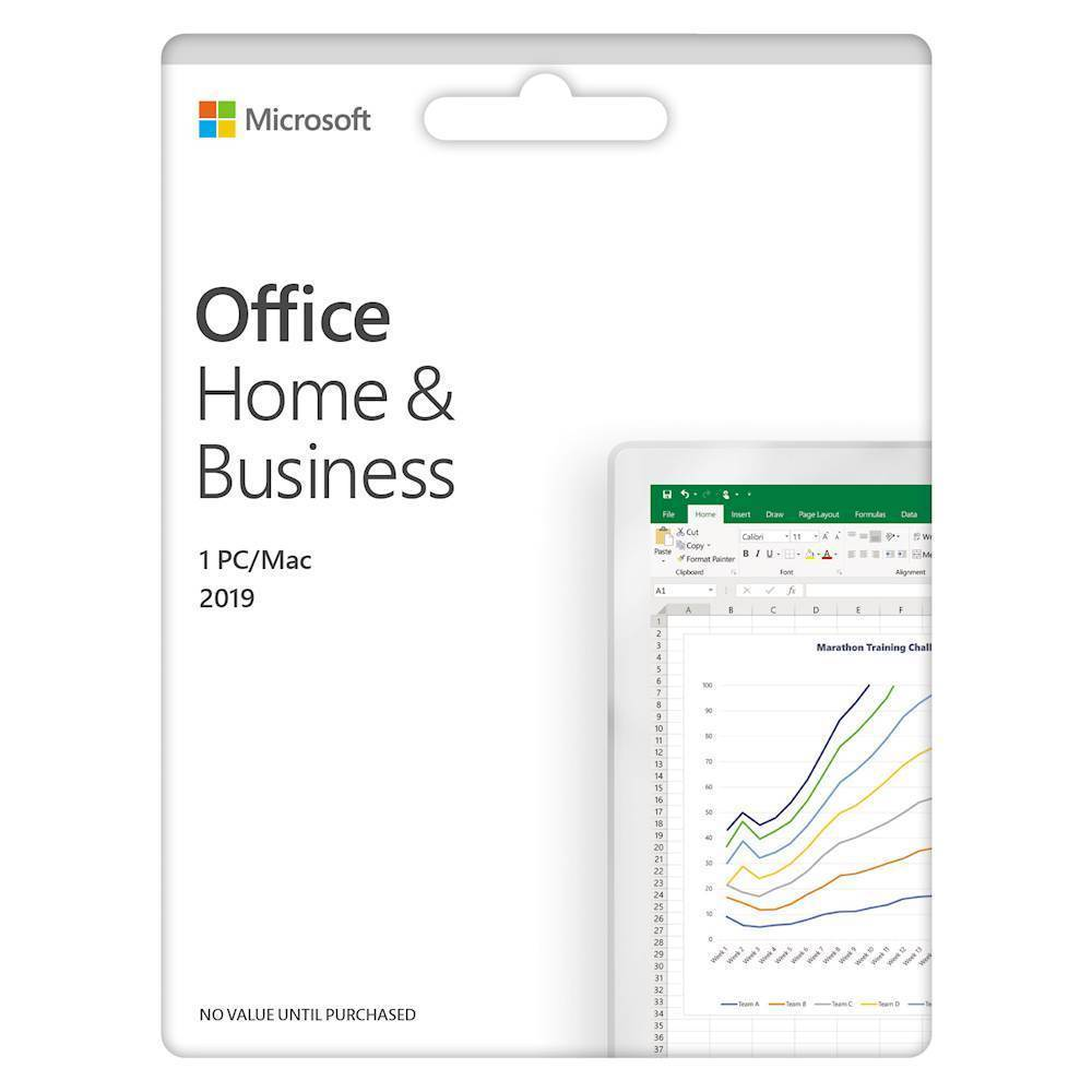 Office Home Business 2019 1 Device Product Key Card Mac