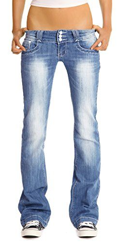 Bestyledberlin jean pour femmes, jean à taille basse/bootcut j97y