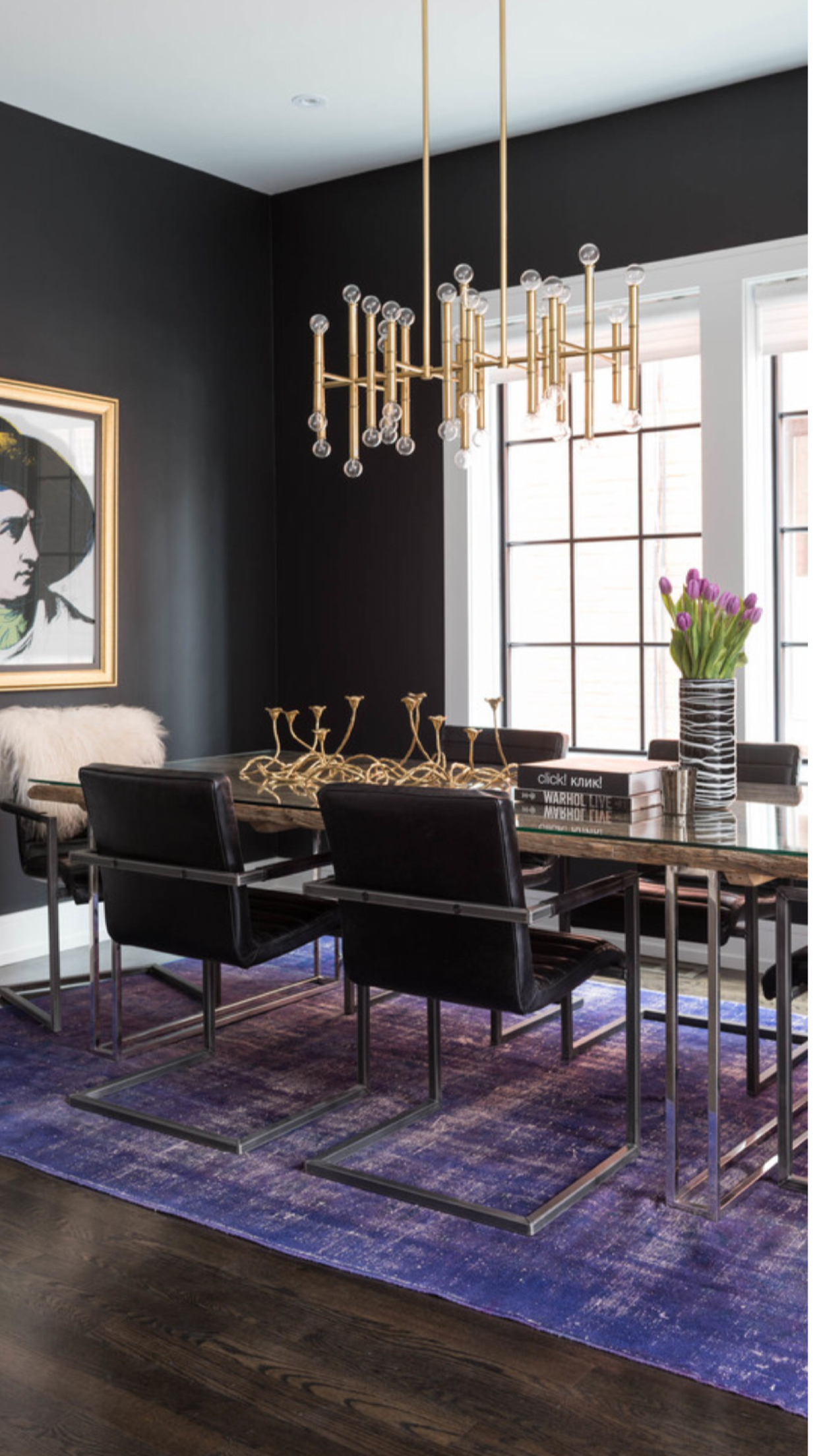 Contemporary Dining Room Meurice Chandelier From Jonathan Adler Houzz