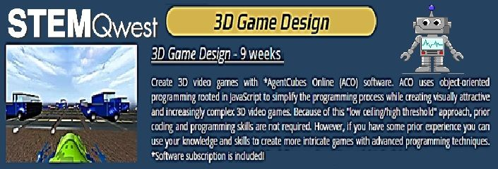 3D Game Design: Games made during the course include: Maze