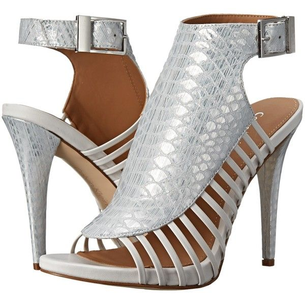 Womens Shoes Calvin Klein Nalani Silver/Platinum White Painted Snake Metallic