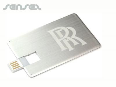 Flat Metal USB Cards (1GB) | Promotional What's New | Sense2 Promotional Products & Items | Branded Corporate Gifts