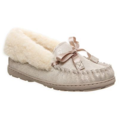 Bearpaw Indio Size 11 Women's Slippers In Pewter Metallic
