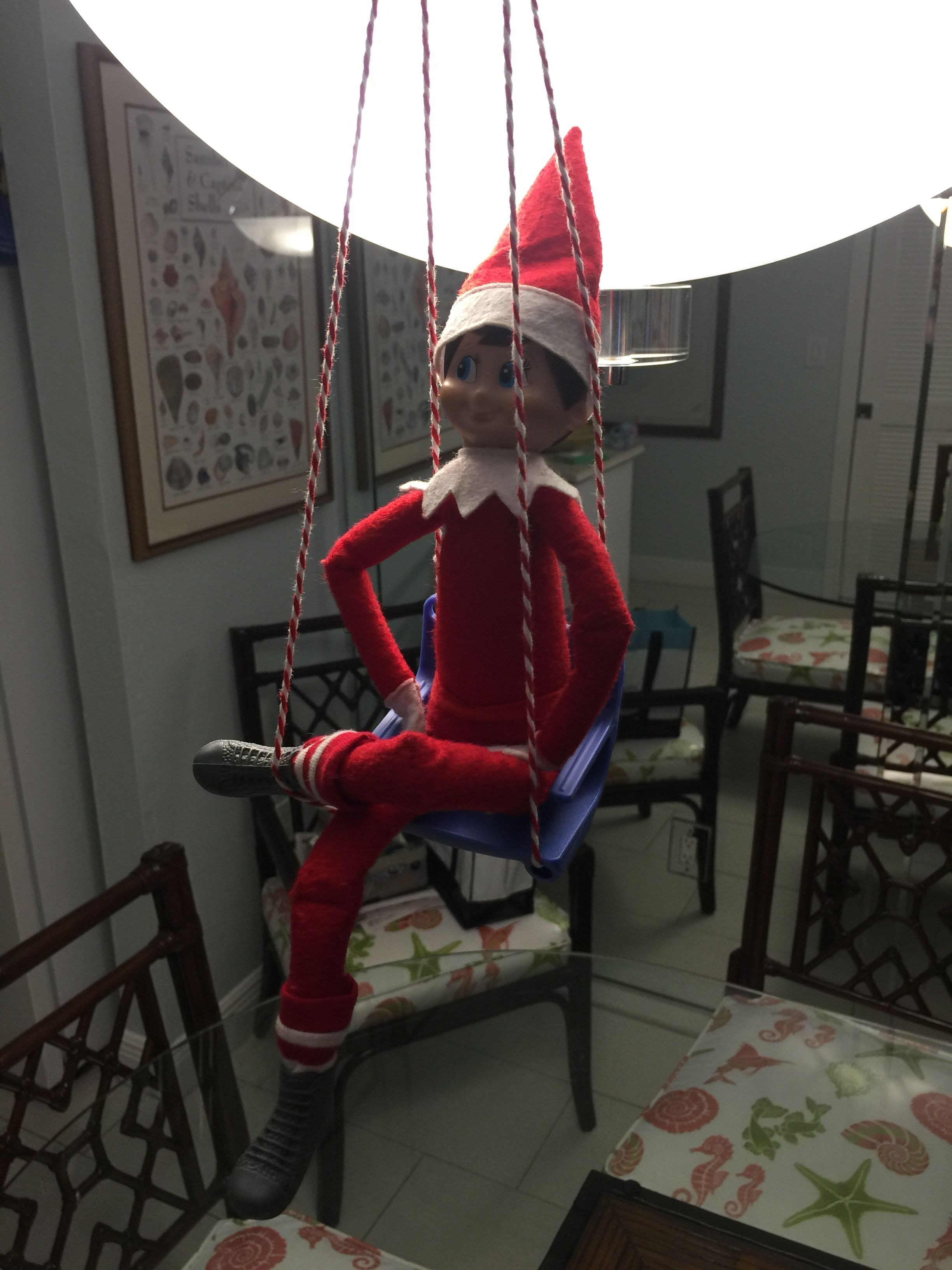 Elf on Shelf swing | Elf on the Shelf | Pinterest