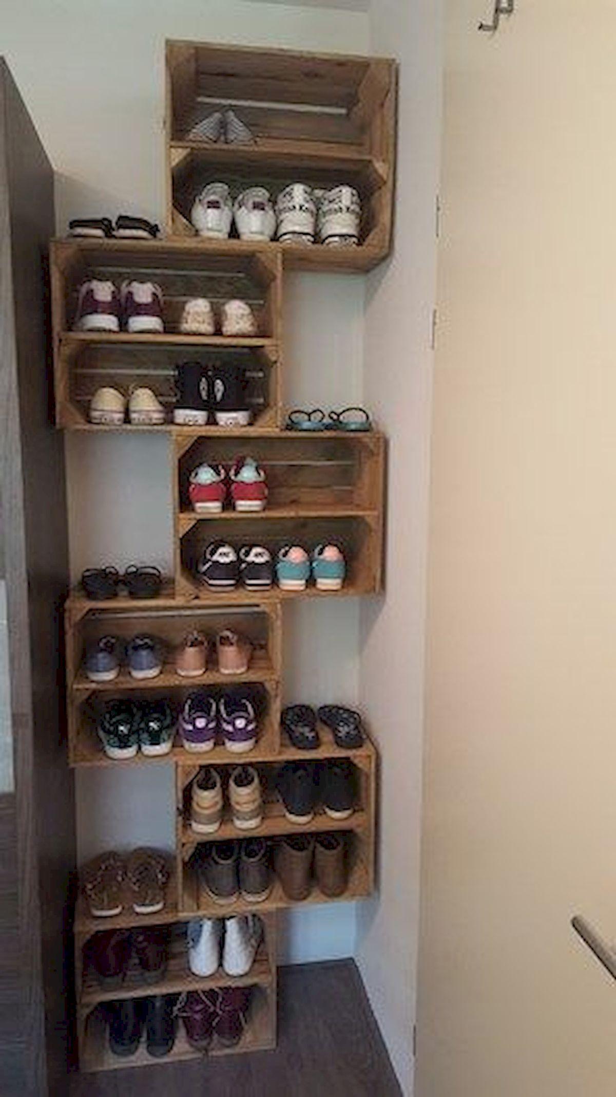 60 kreative DIY Home Decor Ideen für Wohnungen #rustichomedecor Schuhhalter … - bingefashion.com/haus