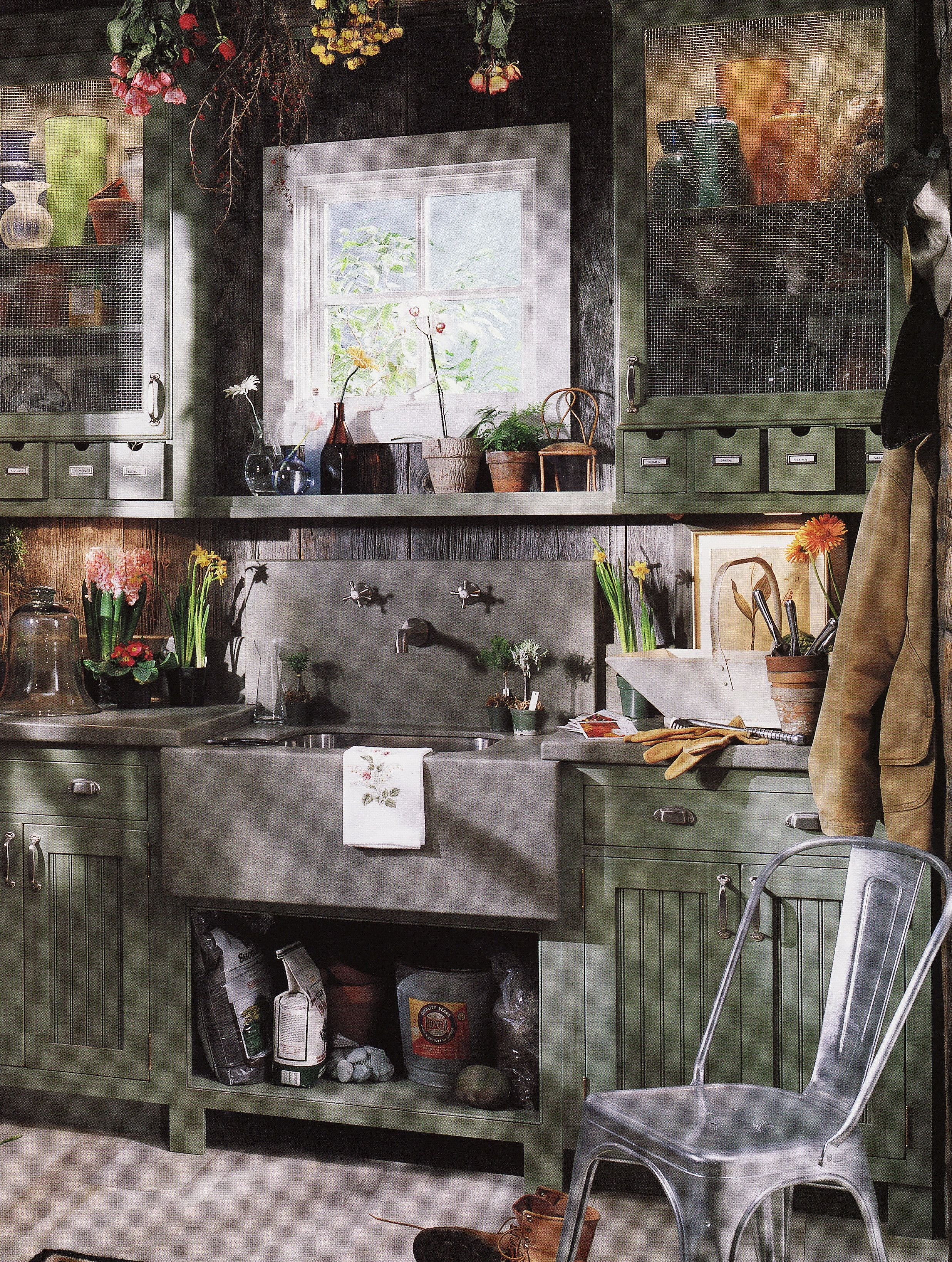 The Ultimate Potting Shed Small Drawers Upper Cabinets And