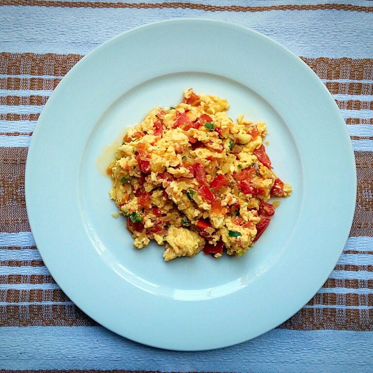 Country Style Scrambled Eggs Recipe: Huevos A La Mexicana (Mexican Style Scrambled Eggs