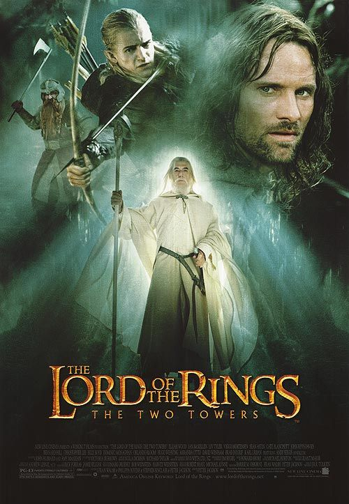 Lord Of The Rings The Two Towers Movie Poster The Two Towers