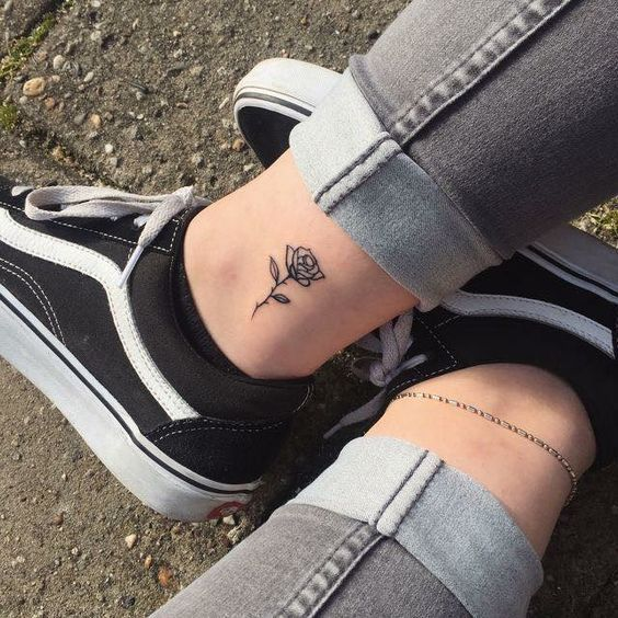 Meaningful Small Tattoos For Women Simple Small Tattoo Ideas Rose Hand Tattoo Rose Tattoo On Ankle Little Rose Tattoos