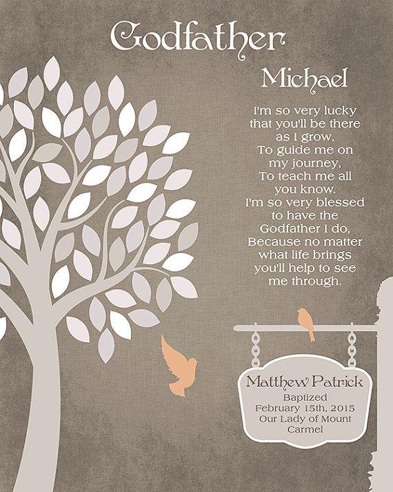 UNFRAMED PRINT Christening Gift GODDAUGHTER GiftGODSON giftGODCHILD Gift