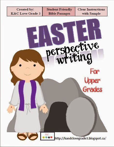 K&C Love Grade 3: A great Easter writing activity to help your students see the arrest, death & resurrection of Jesus through different views.