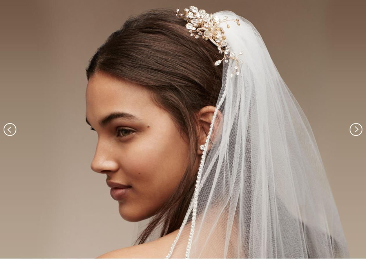 beautiful wedding veil with hair accessories ideas wedding