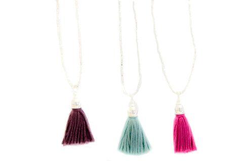 Kids -silver tassel necklace - Vivien Frank Designs