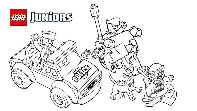Lego Juniors Police Coloring Pages Also See The Category To