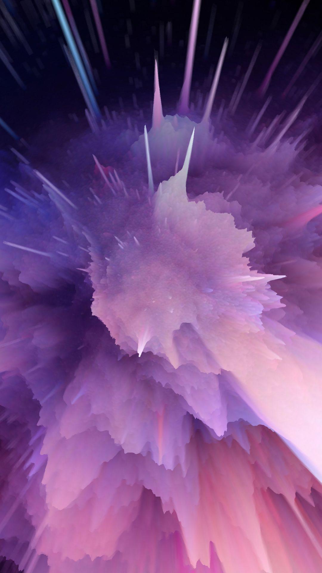 Clouds Blast Explosion Waves Violet 1080x1920 Wallpaper Mkbhd Wallpapers Clouds Beautiful Wallpapers