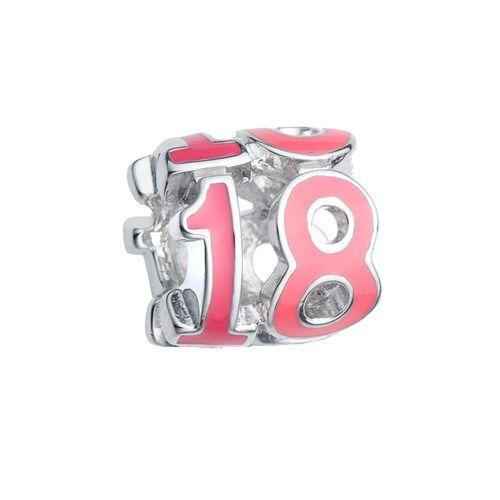 Pingente número 18 Rosa Life
