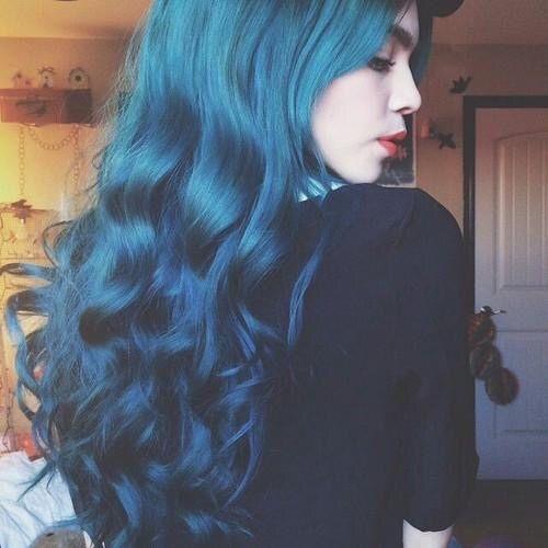 Blue Hair Tumblr Beauty Hair And Make Up
